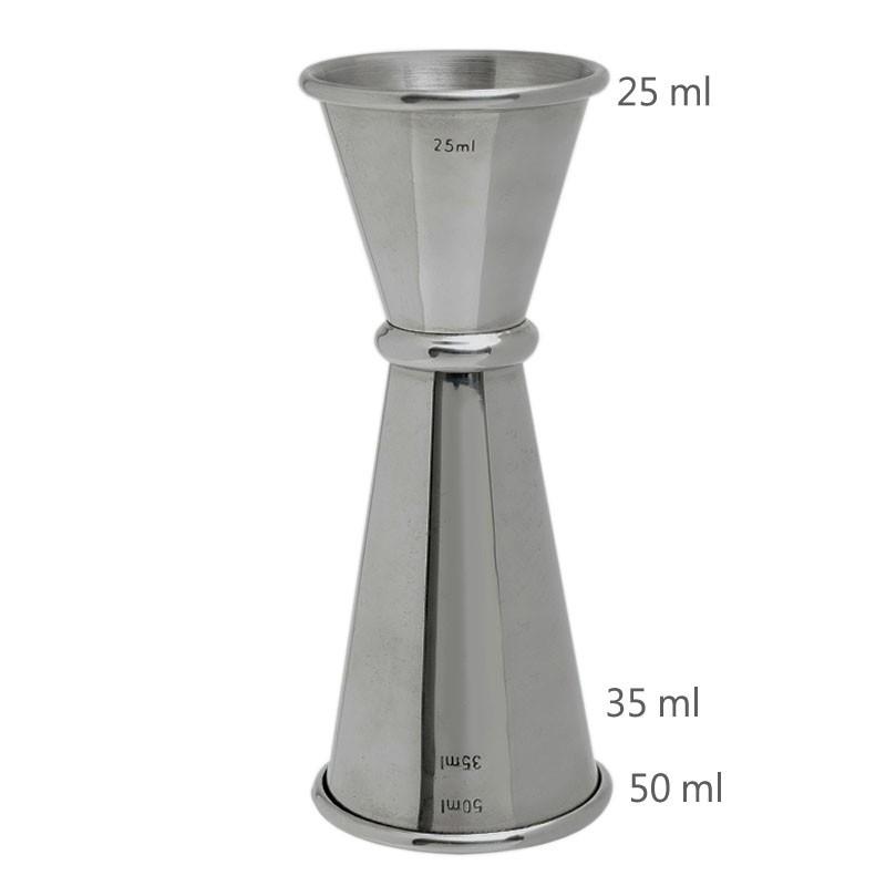 Jigger GINZA 25 /50 ml, Simple (MEZCLAR) 3179