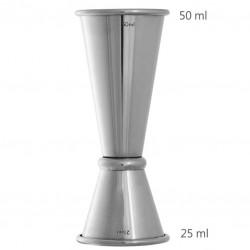 Jigger GINZA 25 50 ml, Simplu (UrbanBAR) - Masura BAR, din Metal