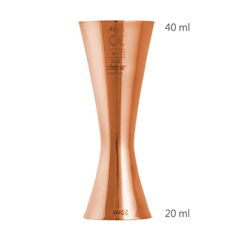 Jigger AERO 20 /40 ml, Rose Gold [UrbanBAR] - Masura Bar