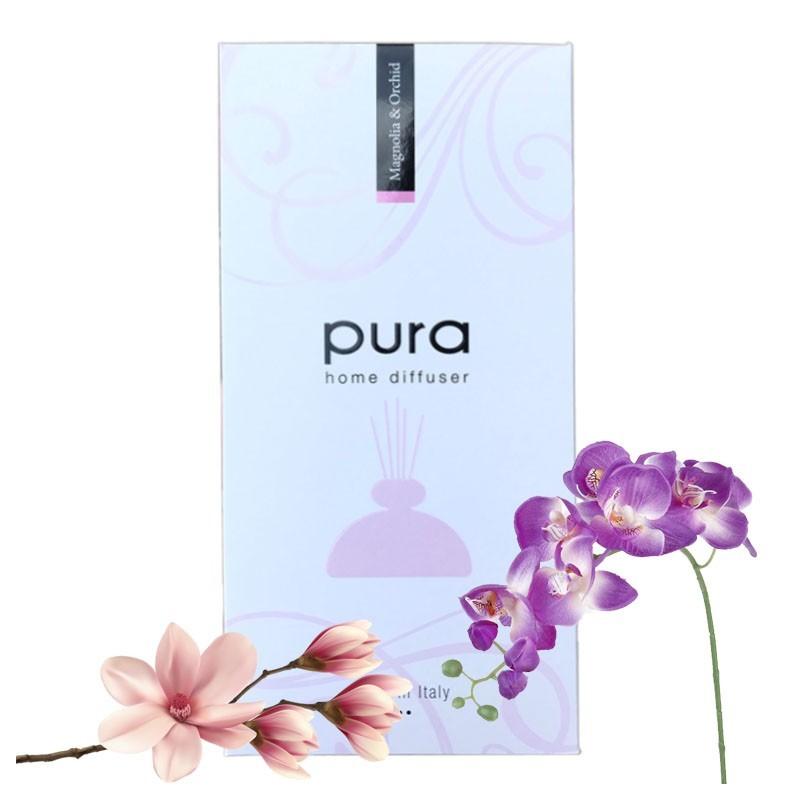 Parfum de Camera - PURA PLATINUM, 250ml Magnolie & Orhidee - Difuzor Arome cu Betisoare (in Cutie Cadou) MAGNOLIE & ORHIDEE