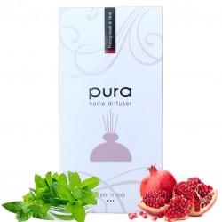 Parfum de Camera - PURA PLATINUM, 250ml - Difuzor Arome cu Betisoare (in Cutie Cadou) MENTA & RODII