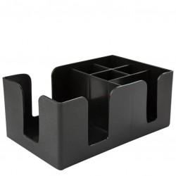 Bar Caddy / Napkin Holder - Black Plastic