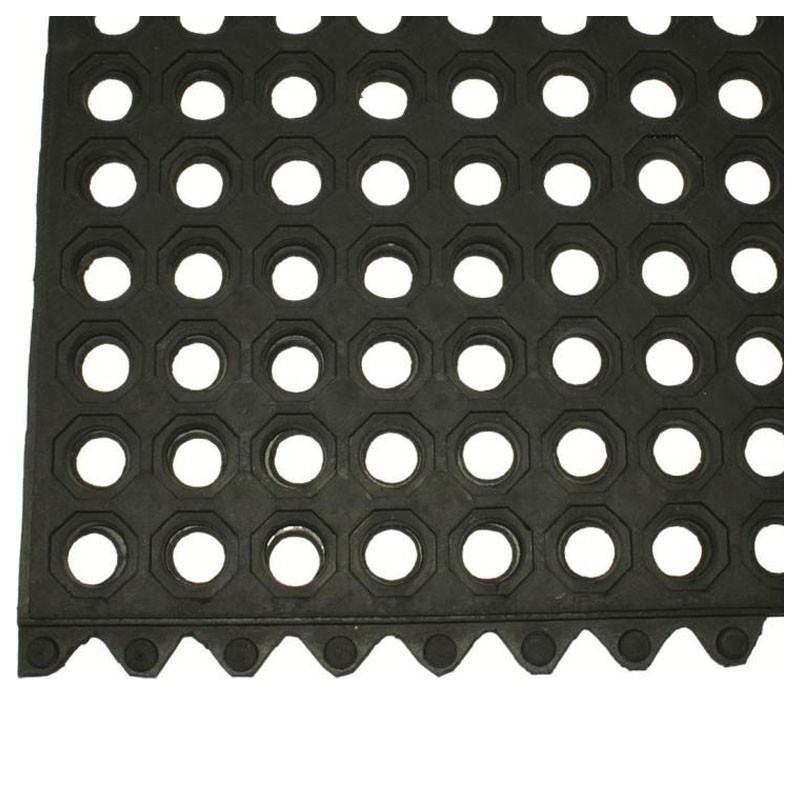 Floor Mat - Black Rubber, Interconnectable