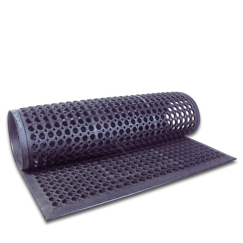Floor Mat - Black Rubber, 152 .5 * 92 .5cm