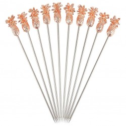 PINEAPPLE Cocktail Garnish Pins - COPPER (Metal), 10pcs /set