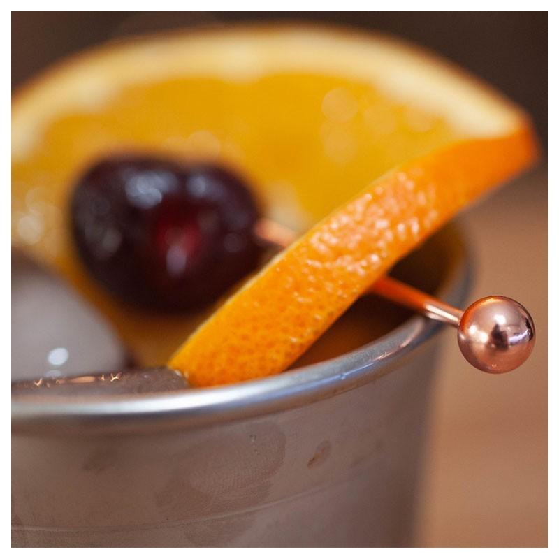 Copper BALLS Cocktail Garnish Pins (Metal), 10pcs /set 3731