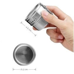 Stainless Steel Condiment Storage Jar, with Magnetic Base