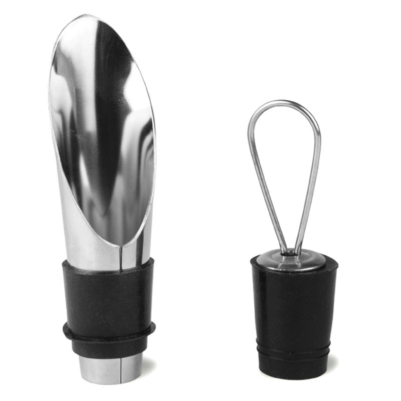 THE WINE CONNOISSEUR - Gift Set Wine Pourer with Bung