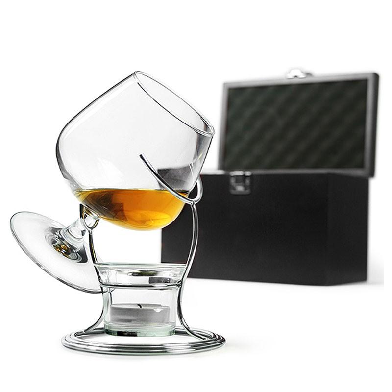 SET Cadou DeLuxe - INCALZITOR Cognac & Brandy (cu Accesorii Incluse)