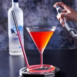 Pahar cocktail THE SIPTINI Martini (Y), 220ml cu paie de sticla si spray aroma