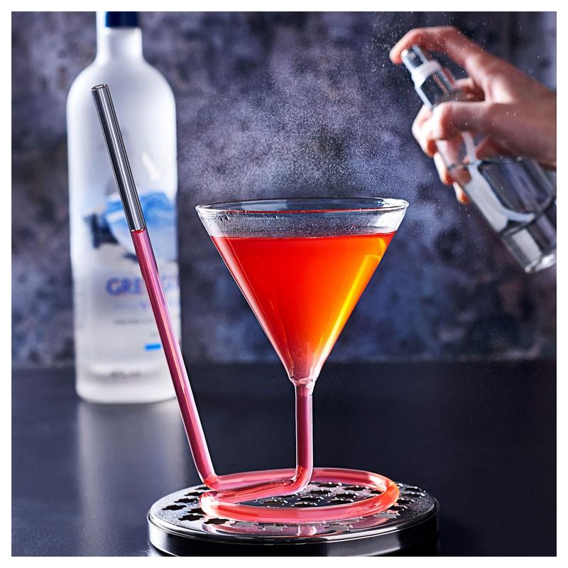 The SIPTINI Martini glass (Y) - with Glass Straw, 220ml aroma spray