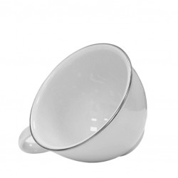COFFEE Cup - White Porcelain, with PLATINUM Edge