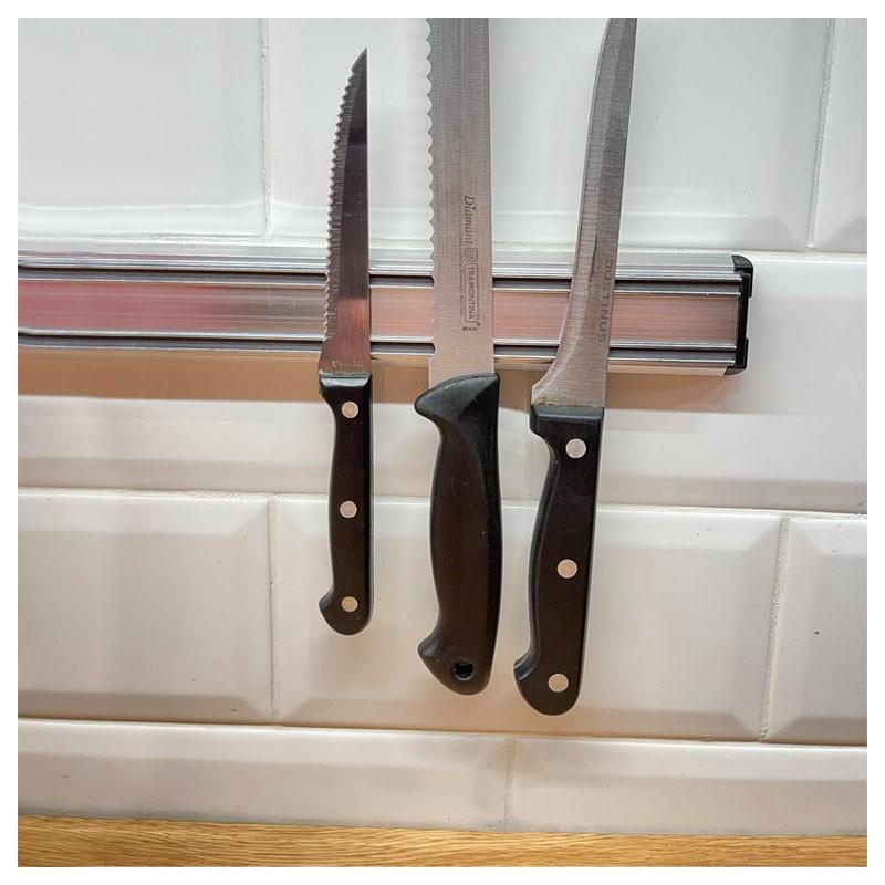 Suport Magnetic pentru Cutite, 35cm Argintiu
