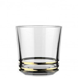 """Pahar """"Gold Rim"""" - AETHER Double Old Fashioned, 350ml (LIBBEY)"""