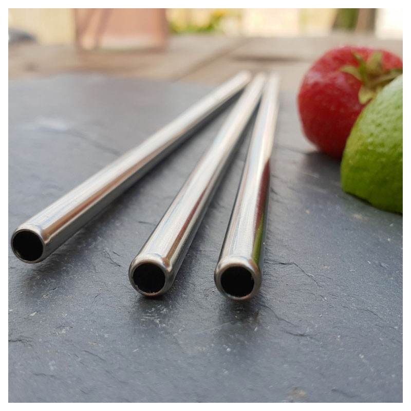 STAINLESS STEEL Drinking Straws - STRAIGHT, Reusable (Different Lengths)