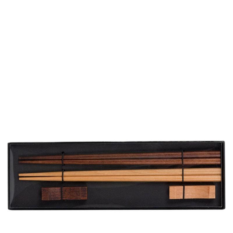 Gift SET - 2 Pairs Asian Bamboo Chopsticks