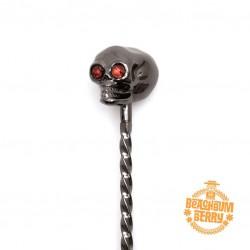 BarSpoon TIKI SKULL, GUNMETAL BLACK [COCKTAIL KINGDOM] 33cm