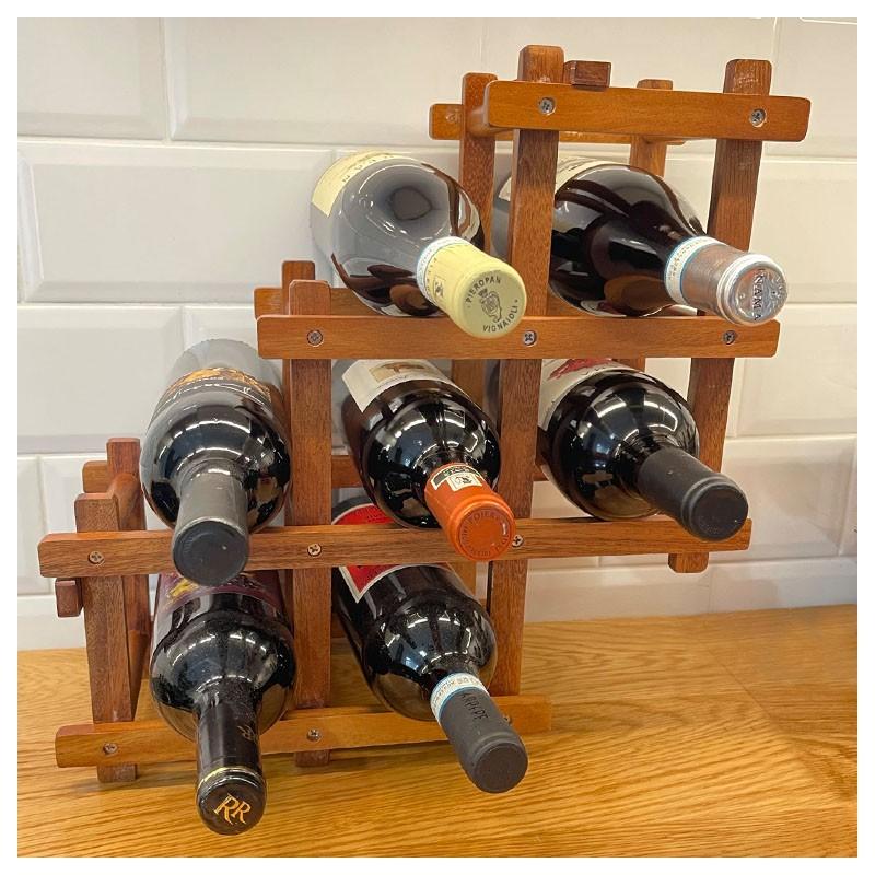 Wine Rack - FOLDABLE, Wood