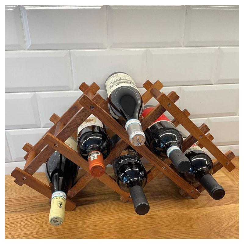 Foldable Wine Rack, Wood