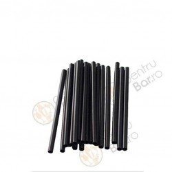 Short Black Straws, Thick  500pcs